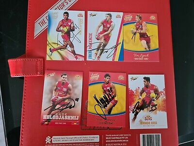 AU15 • Buy Gold Coast Suns Signed Afl Cards