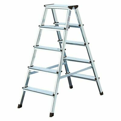 Stufen-Doppel-Leiter Arb.höhe 2,40 Standing Height 0,65 Length 0,95 2x4 Levels • 95.76£