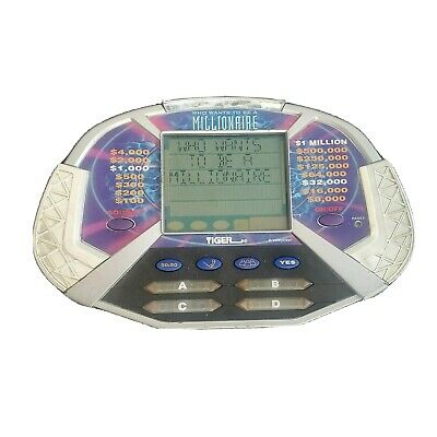 £10.58 • Buy Who Wants To Be A Millionaire Handheld Electronic Game Tiger 2000 Tested Works