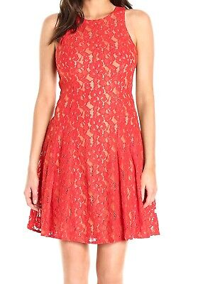 $ CDN35.04 • Buy Ivanka Trump Size 12 Dress Red Floral Lace Fit & Flare Zip Back Dress NEW $158
