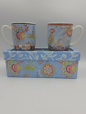 Collier Campbell London Gift Set 2 Mugs Flowers Floral Fine China BNIB  • 20£