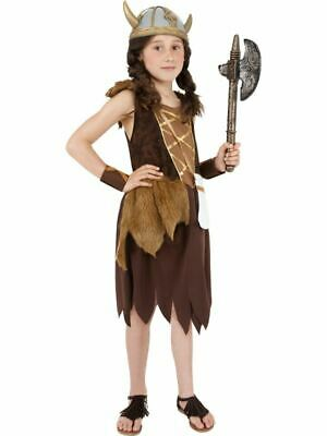 £15.99 • Buy Girls Childrens Viking Saxon Warrior Fancy Dress Costume Book Day Outfit