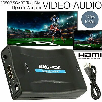 £6.45 • Buy 1080P SCART To HDMI Composite Video Scaler Converter Audio Adapter For DVD TV UK