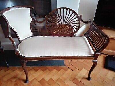 £500 • Buy Antique Edwardian Settee - Mahogany Couch Seat 1900
