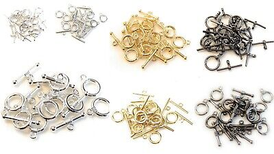 £2.25 • Buy Lady-Muck1: 24pc (12 Sets) Toggle Clasps Jewellery Making Findings - UK SELLER