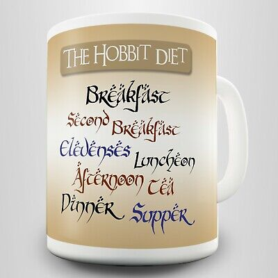 Hobbit Diet Novelty Gift Mug - Inspired By Tolkien's Lord Of The Rings • 4.99£
