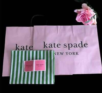 $ CDN17.52 • Buy 2 Kate Spade Gift Reusable Pink Bags Tote 12  X 16  And Tissue Paper & Sticker