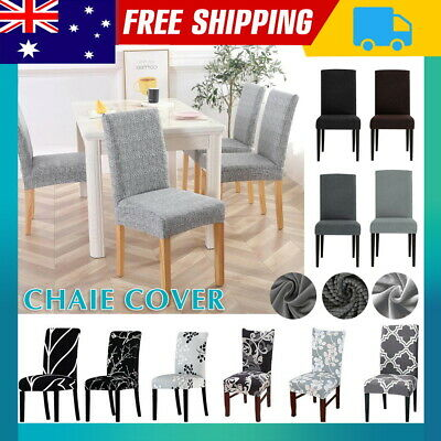 AU5.99 • Buy Stretch Chair Cover Seat Covers Spandex Lycra Washable Banquet Wedding Party NEW