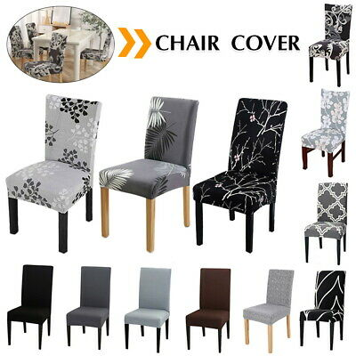 AU16.69 • Buy 1-8 PCS Dining Chair Covers Spandex Slip Cover Stretch Wedding Banquet Party
