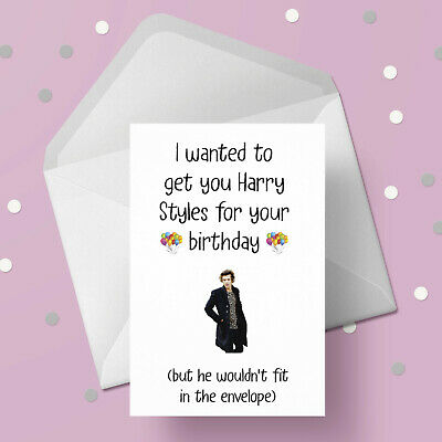 £2.95 • Buy Harry Styles Funny Birthday Card - Free 1st Class Postage
