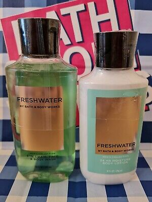 £18.99 • Buy Bath And Body Works Men's Collection Freshwater Shower Gel And Body Lotion Set