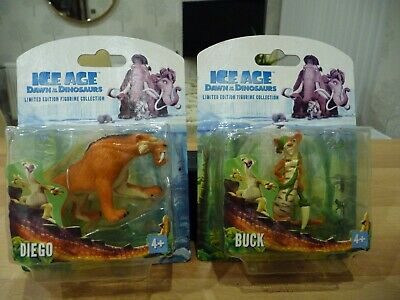 Ice Age 3 BUCK And DIEGO Dawn Of The Dinosaurs Figures Limited Edition - SEALED • 29.95£