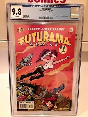 AU1250 • Buy Futurama Comic #1 First Edition CGC9.8 Graded Number One Issue One