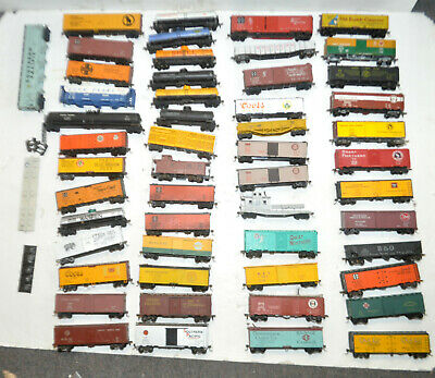 $ CDN466.41 • Buy Estate Vintage Lot Of 52 HO Scale Trains Assorted Mixed Fright Box Cars