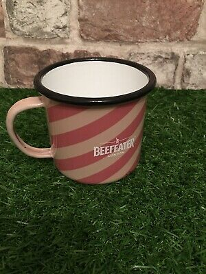 Beefeater London Gin Striped Tin Cup Mug Bar Pub Man Cave Camping • 4.50£