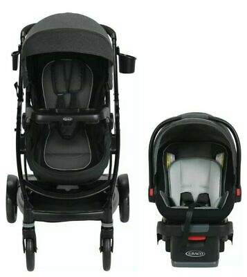 Graco Baby UNO2DUO Travel System Stroller W/ SnugLock 35 Infant Car Seat Ace NEW • 257.49£