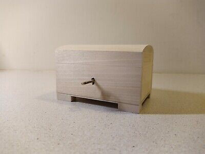 Small Wooden Storage Chest Box Lockable Weeding Cards Treasure Decoupage • 4.50£