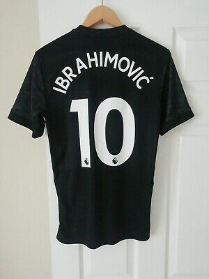 MANCHESTER UNITED FC OFFICIAL 2017-18 ADIDAS IBRAHIMOVIC 10 AW SHIRT (Sm) MINT • 30£