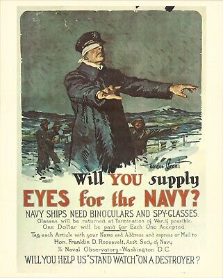 £18.11 • Buy VINTAGE - U.S. Navy Recruitment Poster WILL YOU SUPPLY EYES - MILITARY 16x20