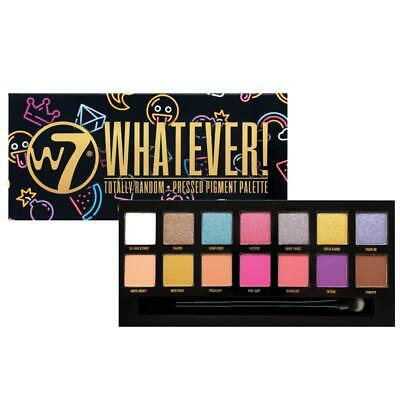 $ CDN14.40 • Buy W7 Whatever Pressed Pigment Eyeshadow Palette With Double Ended Brush