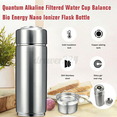 Quantum Alkaline Filtered Water Cup Balance Bio Energy Nano Ionizer Flask Bottle • 12.69£