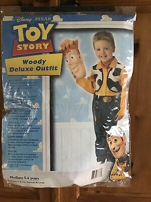 £6 • Buy Toy Story Woody Deluxe Outfit Medium (age 5/6 Years)