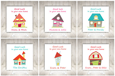 Good Luck In Your New Home Personalised Card House • 1.99£