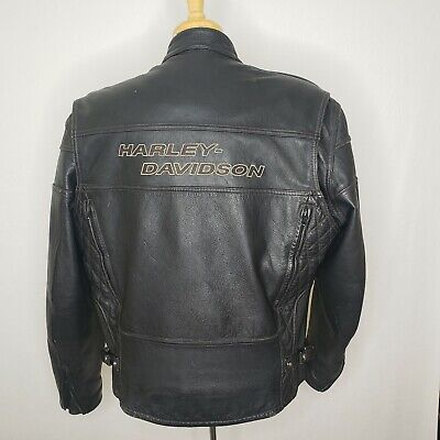 $ CDN317.18 • Buy Harley Davidson Mens Heavyweight Leather Competition Protective Biker Jacket XL