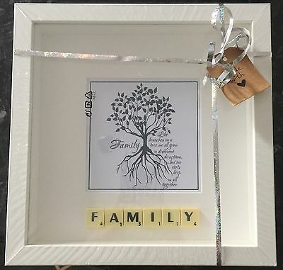 Family Scrabble Picture Brand New Can Personalise • 16£