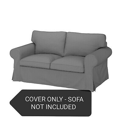 Ikea Cover Only Set For Ektorp 2-Seater Sofa In Remmarn Light Grey 004.723.54 • 119.99£