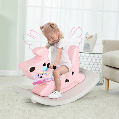 £38.95 • Buy Kids Toy Rocking Horse Baby Ride On Toy Toddler With Music&lights Gift Pink