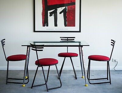 AU450 • Buy Set Of 4 Beautiful 1980s Sculptural Chairs Post Modern MCM Contemporary Design