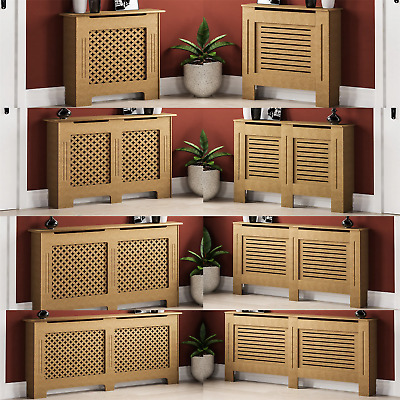 £34.90 • Buy Unfinished Radiator Cover Modern Traditional Wood Grill Cabinet Furniture Large