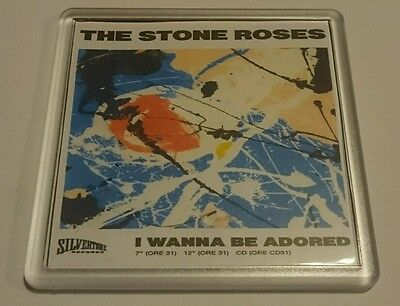 STONE ROSES COASTER I WANNA BE ADORED Cd Vinyl Rare Ticket Poster T Shirt • 2.49£