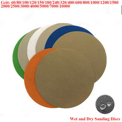 AU9.39 • Buy 7'' 180mm Wet And Dry Sanding Discs Hook & Loop Sandpaper Pads 60 - 10000 Grit
