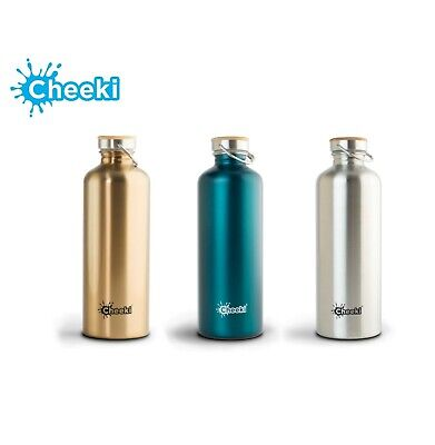 AU38.95 • Buy Cheeki Thirsty Max 1.6 Litre Leakproof Stainless Steel Water Bottle - 2 Colours