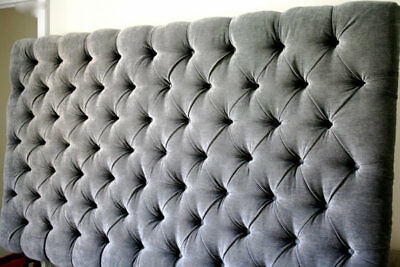 Top Quality Uhphostered Colchester Bed Headboard In Chenille Fabric Height 30  • 75.99£