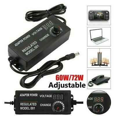 £8.39 • Buy AC/DC 3V-24V Electrical Power Supply Adapter Charger Variable Voltage Adjustable