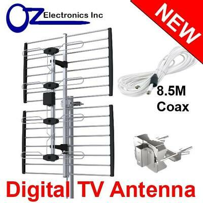 AU39 • Buy Digital Outdoor TV Antenna VHF UHF FM Signal Aerial Outdoor Amplifier Booster AU