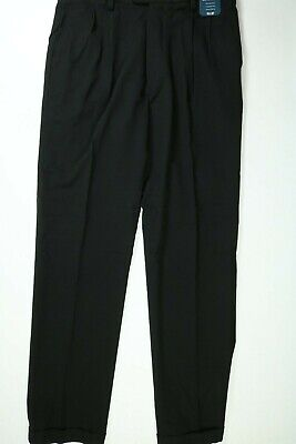 $14.99 • Buy Men's George Black Classic Fit Performance Dress Pants (Pleated) NEW! NWT
