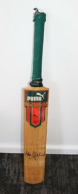 AU180 • Buy Puma Millichamp Kashmir Willow Cricket Bat Signed By Adam Gilchrist