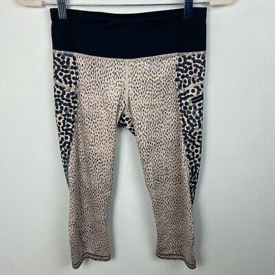$ CDN67.50 • Buy Lululemon Animal Print Run Speed Crop Leggings Womens Size 4 Luxtreme Stretch