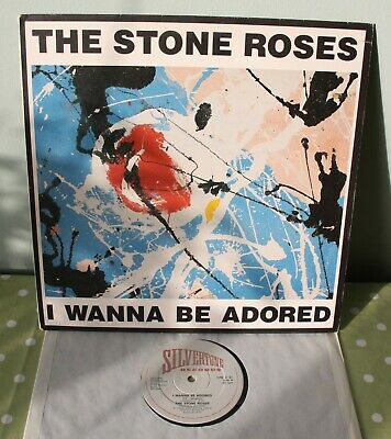 The Stone Roses I Wanna Be Adored 12  Vinyl Record - Silvertone Orez31 - Ex • 59.95£