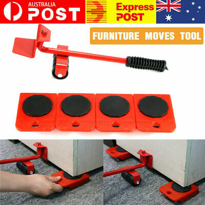 AU21.99 • Buy Heavy Furniture Moving Lifter Roller Move Tool Set Wheel Mover Sliders Kit AU