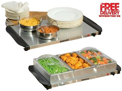 £33.49 • Buy Daewoo 3 X 1.2L Electric Buffet Server Dishes Serving And Plate Food Warmer
