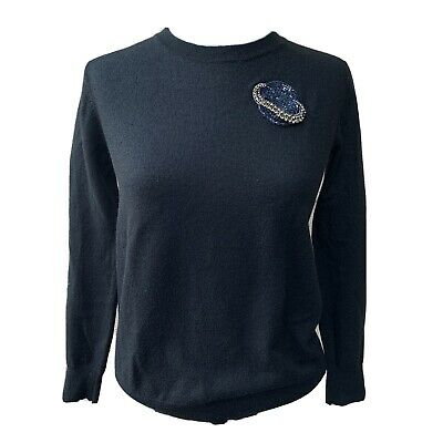 $ CDN43.73 • Buy Markus Lupfer Large Sequins Planet Pullover Women Sweater Casual Long Sleeve S