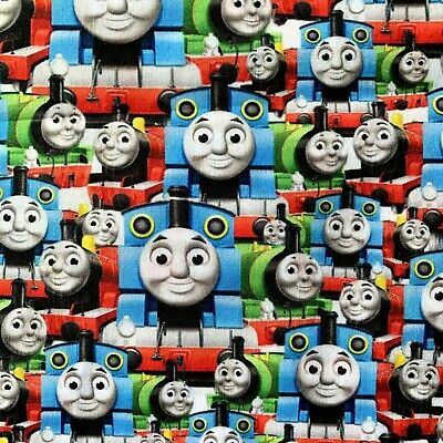 £6 • Buy Offcut Thomas The Tank Engine Train Children Polycotton Fabric Character