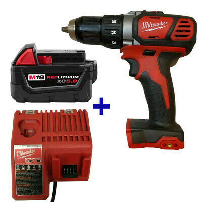Milwaukee 2606-20 M18 18V Drill Driver, 48-11-1850  Battery CHARGER 48-59-1812 • 112.87£
