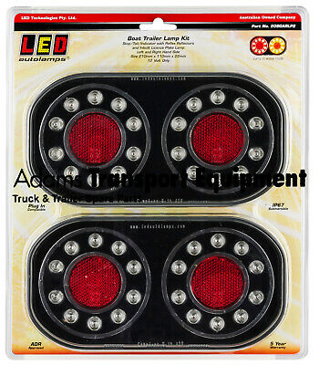 AU83.50 • Buy LED Autolamps 209GARLP2 Stop/Tail/Indicator/Licence Plate Lamp Boat Trailer Kit