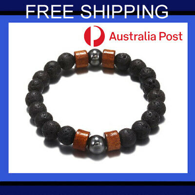 AU6.50 • Buy Chakra Bracelet Healing Natural Lava Stone Yoga 7 Bead Oil Diffuser Men Women